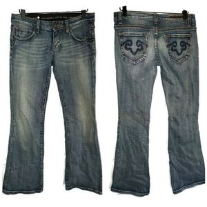 Rerock Express Bootcut Stonewash Jeans Sz 2 Short